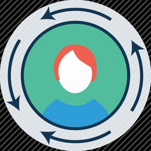 avatar, man, refresh avatar, refresh sign, sync, synchronisation, user, web element icon