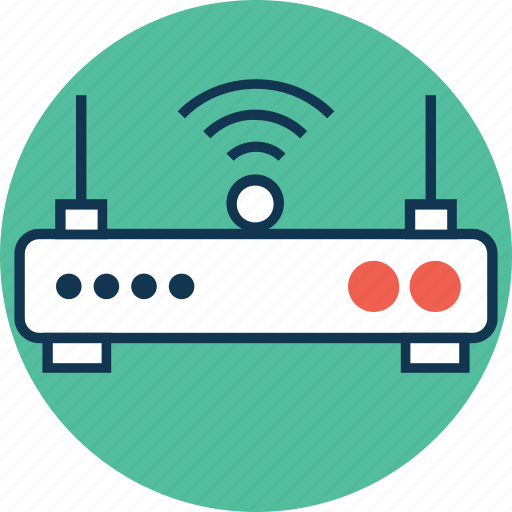 dsl, internet device, wifi, wifi modem, wifi router, wifi signals, wireless internet icon