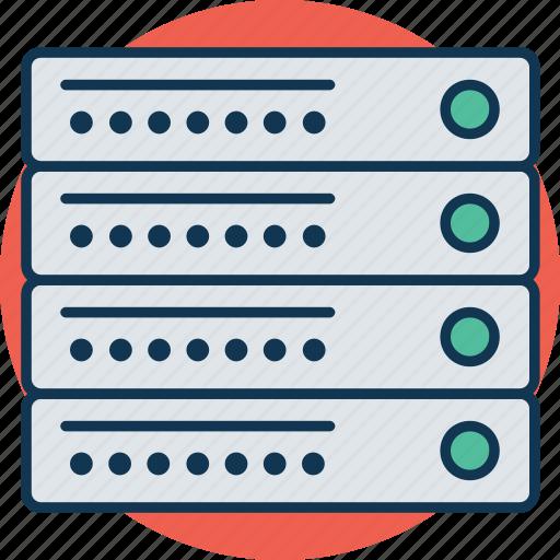 database, network server, networking, server, server connection, server rack, web hosting icon