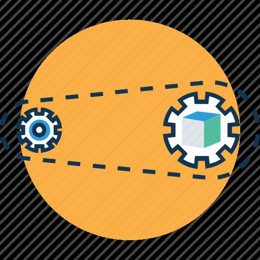 action, beginning, cogwheel, cogwheel processing, generator, initiator, processing icon