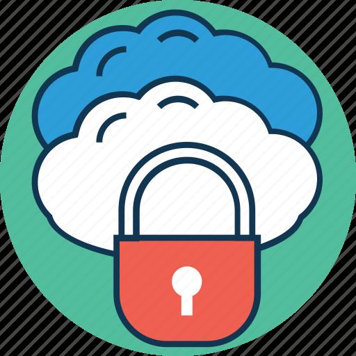 cloud with lock, icloud, icloud locked, lock cloud, onedrive, secure, secure cloud icon
