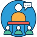 communication, conference, convention, lecture, presentation, public speaker, speech icon