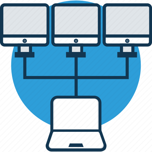 data share, data share with pc, data transfer, internet, laptop, network connection, networking icon