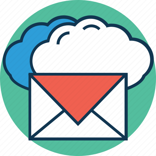 cloud email, cloud with email, email, envelope, inbox, letter, message icon
