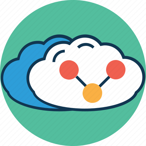 cloud network, cloud share, connection, connectivity, network, share, share symbol icon