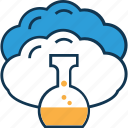 beaker, cloud experiment, cloud measuring cup, cloud with beaker, glass beaker, lab beaker, lab test icon