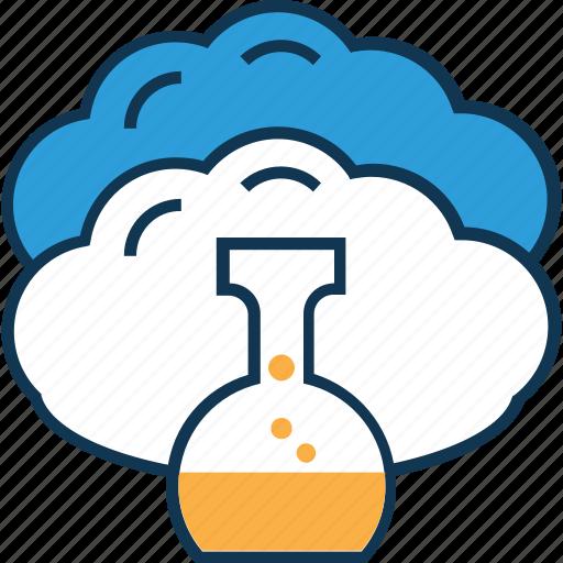 beaker, cloud experiment, cloud measuring cup, cloud with beaker, glass beaker, lab beaker, lab test icon