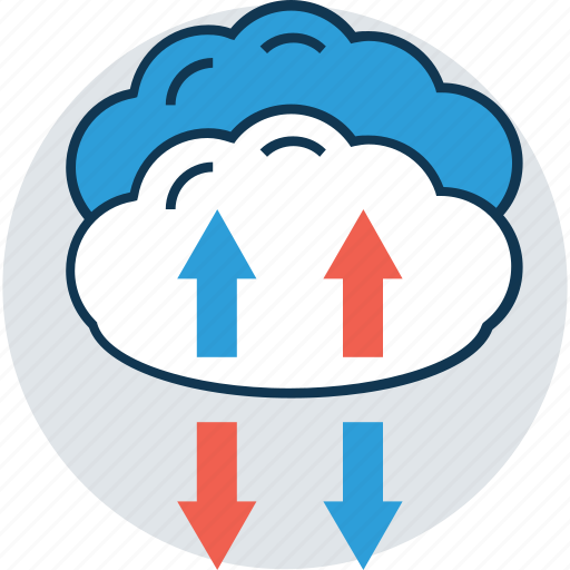 arrow, cloud arrows, cloud computing, up and down arrows, up arrow, upload button, uploading icon