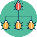 bug, bug hierarchy, bug team, cleaner, crawler, detection, kinds of bugs, malware, search, software icon