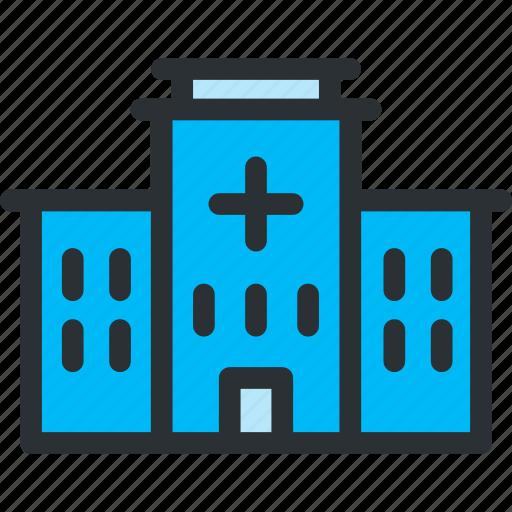 building, clinic, emergency, health, healthcare, hospital, medical icon
