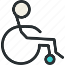 chair, health, imobilized, invalid, medical, patient, wheel icon