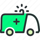 aid, ambulance, emergency, first, health, medical, vehicle icon