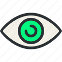 eye, health, knob, medical, oculist, optic, pupil icon