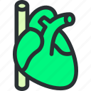 cardio, cardiology, cardiovascular, health, hearth, medical, pulse icon