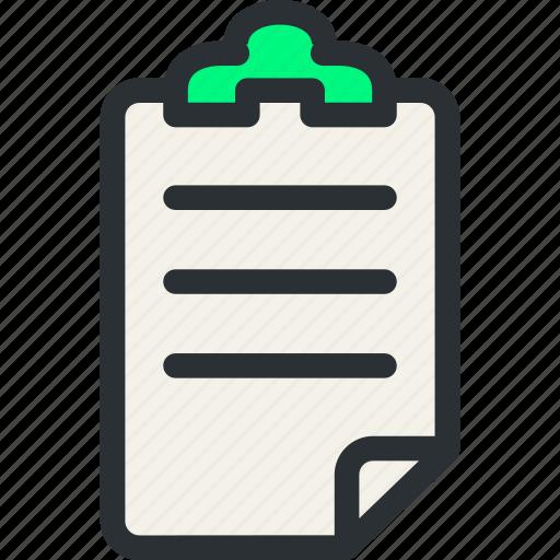decument, health, insurance, list, medical, patient, prescription icon