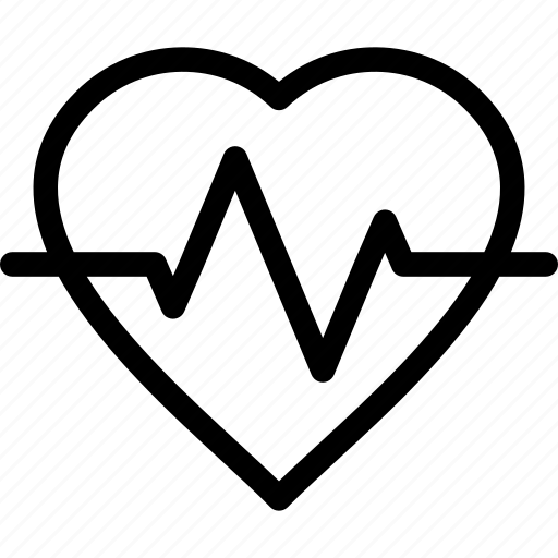 cardiograph, ecg, ekg, health, hearth, medical, pulse icon