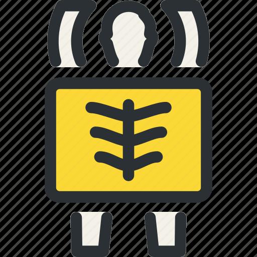 chest, health, medical, radiology, rib, skeleton, xray icon