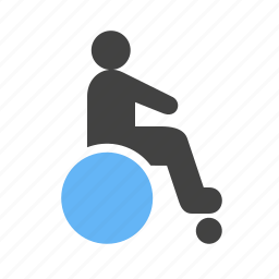 disability, disabled person, handicap, health care, injured, wheelchair icon
