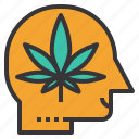 addiction, brain, cannabis, drug, effect, human, marijuana icon