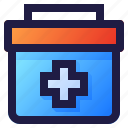 emergency, health, healthcare, hospital, kit, medical, medicine icon