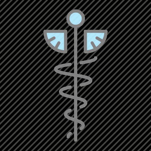 caduceus, doctor, emergency, health, hospital, medical, physician icon