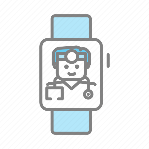 apple watch, doctor, emergency, health, hospital, medical, physician icon