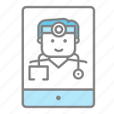doctor, emergency, health, hospital, medical, online medical, physician icon