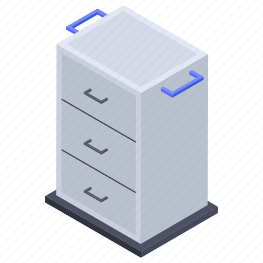 Drawer desk, drawer table, furniture, office table, side table icon - Download on Iconfinder