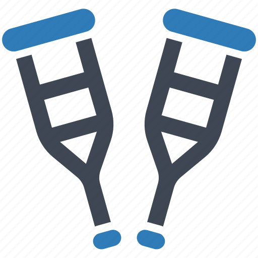 crutches, equipment, medical icon