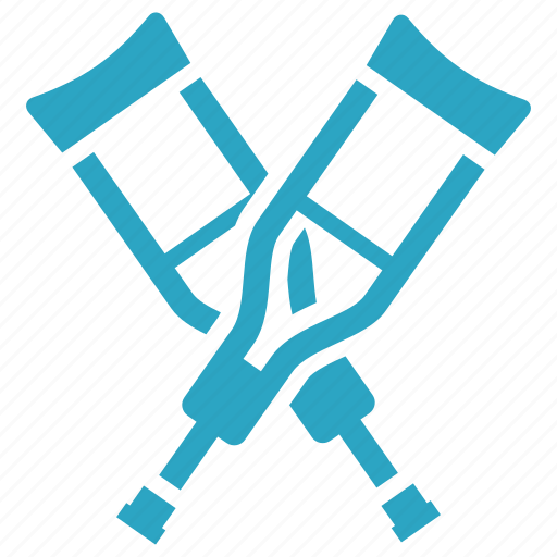 crutches, healthcare, medical supplies icon