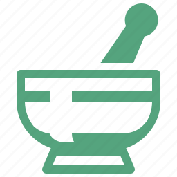drugs, mortar, pestle, pharmacy icon