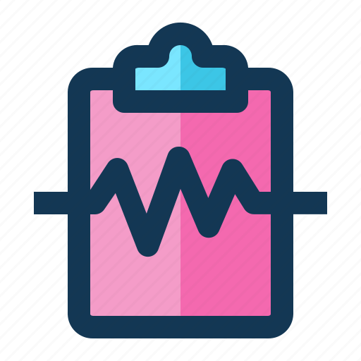 cardiogram, medical, report icon