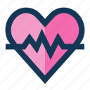 heart, medical, rate icon