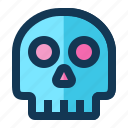 medical, science, skeleton, skull icon