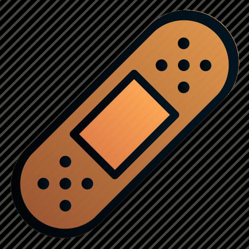 Band aid, bandage, hospital, medicine, plaster, tape icon - Download on Iconfinder