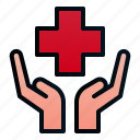 cross, hand, healthcare, hospital, insurance