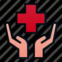cross, hand, healthcare, hospital, insurance