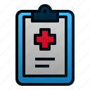 clipboard, document, hospital, medical, office, paper, report