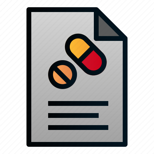 Document, file, healthcare, hospital, paper, pharmacy, prescription icon - Download on Iconfinder