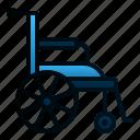 care, clinic, disability, healthcare, hospital, medical, wheelchair icon
