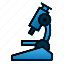 experiment, hospital, laboratory, microscope, observation, research, science icon