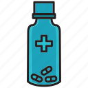 bottle, drug, health, hospital, medical icon