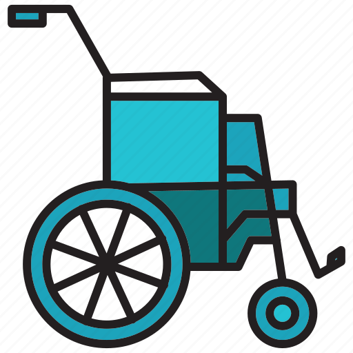 chair, health, hospital, medical, wheel, wheel chair icon