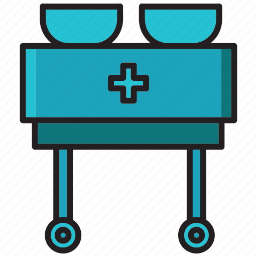 counter drugs, desk, health, hospital, medical, table icon