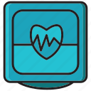 diogram, electro diogram, electrocardiogram, health, hospital, medical, monitor icon