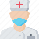 health care, hospital, male, medical, nurse icon