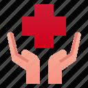 cross, hand, healthcare, hospital, insurance, medical