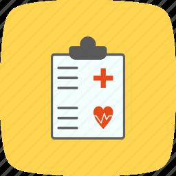 medical chart, medical document, medical file, medical report icon