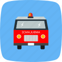 ambulance, health, medical, medicine, treatment, vehicle icon