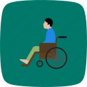 handicap, handicapped, patient, wheel chair icon